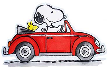 snoopy-driving